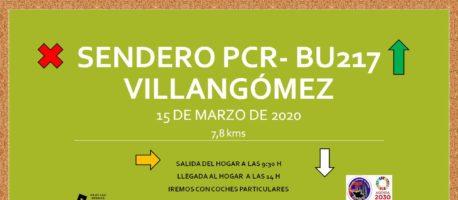 Senderismo PCR-BU217 Villangómez